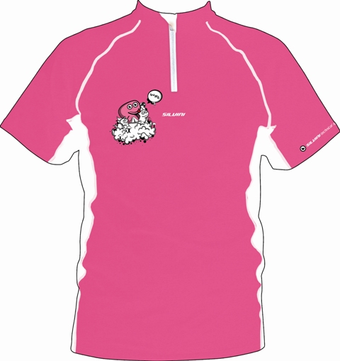 Cyklo Dres Silvini Buffo pink 152-158
