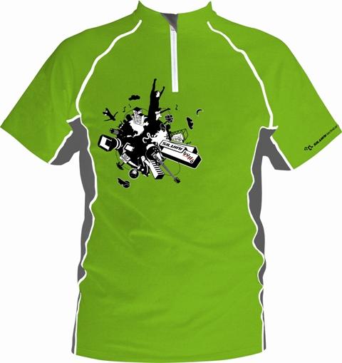 Cyklo Dres Silvini Buffo green 140-146
