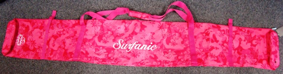 Obal na lyže Surfanic Ski Bag pink